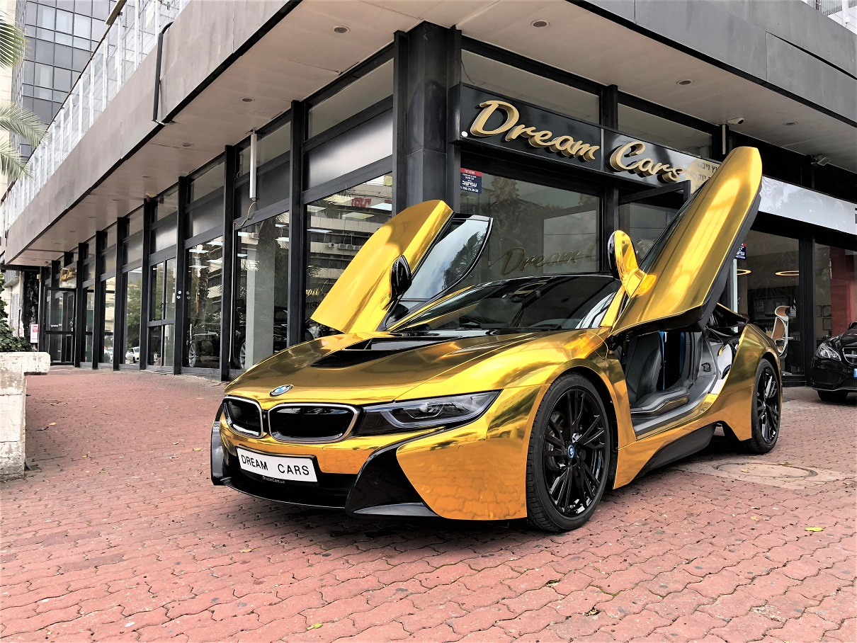 Bmw I8 24 Gold Edition דרים קארס יבוא אישי רכבים ורכבי יוקרה